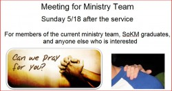 Meeting for Ministry Team
